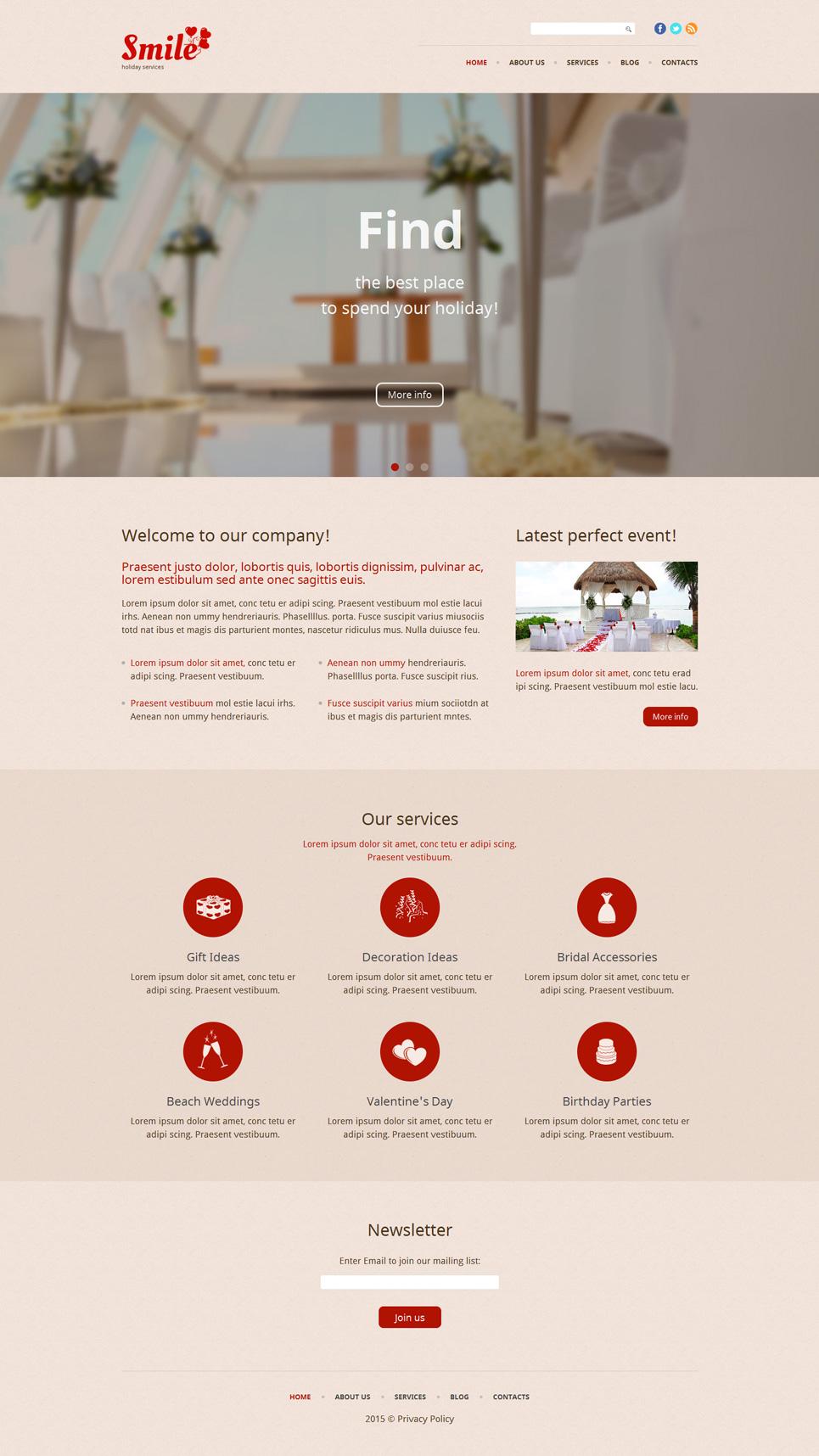 Адаптивный шаблон сайта на тему отдых #53940