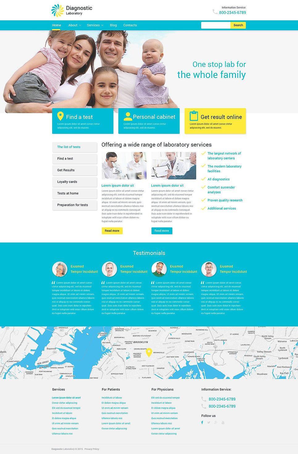 Адаптивный шаблон сайта на тему медицина #53983