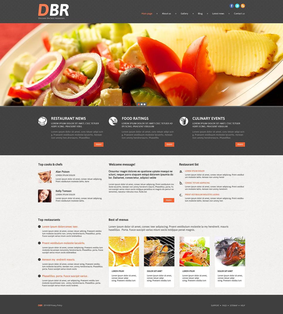 Адаптивный шаблон сайта на тему европейский ресторан #53999