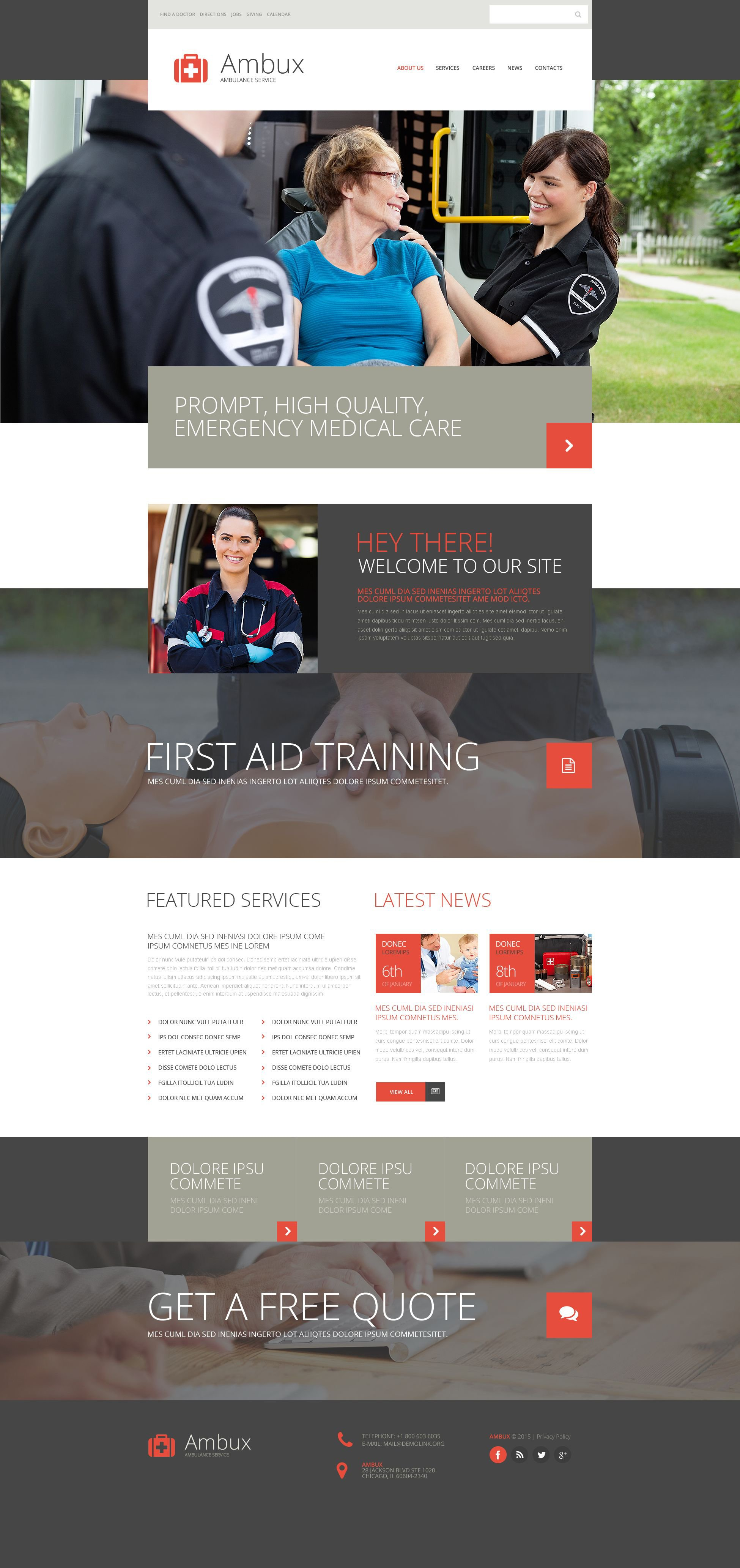 Ambulance Services Website Template