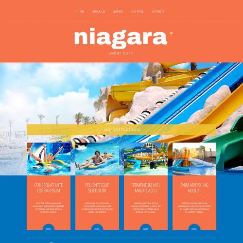 Niagara - Amusement Park WordPress Template based on Bootstrap