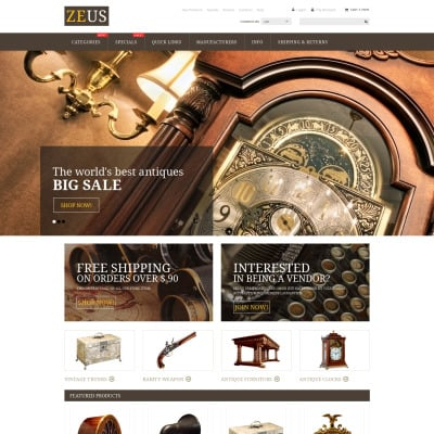 Antique Store Templates TemplateMonster - Free printable invoice templates online antique store