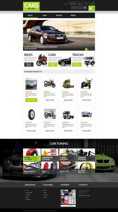 Car Rental VirtueMart шаблон