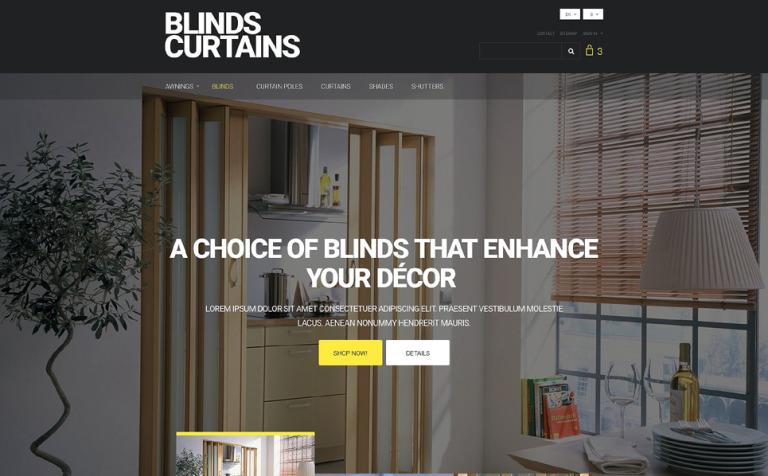 Blinds and Curtains PrestaShop Theme