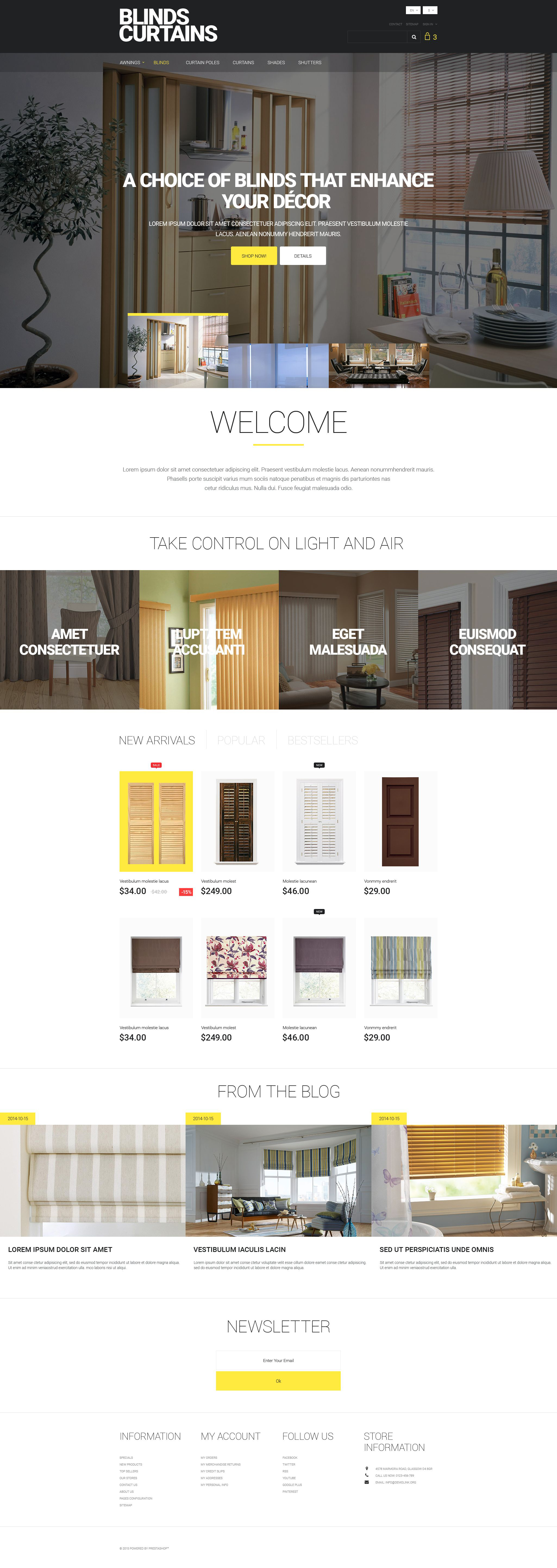 Blinds and Curtains PrestaShop Theme