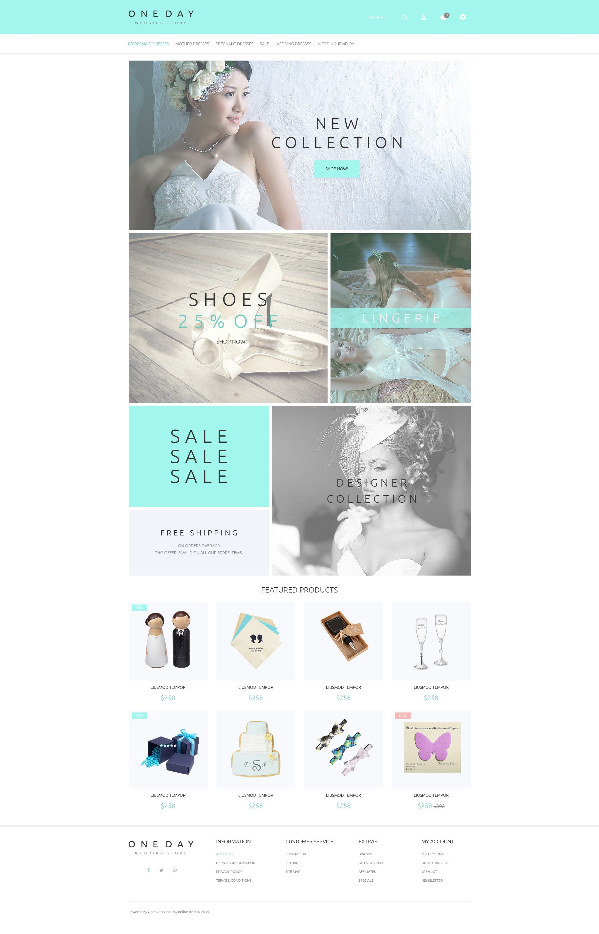 Bridal Shopping Template OpenCart №53913 - captura de tela