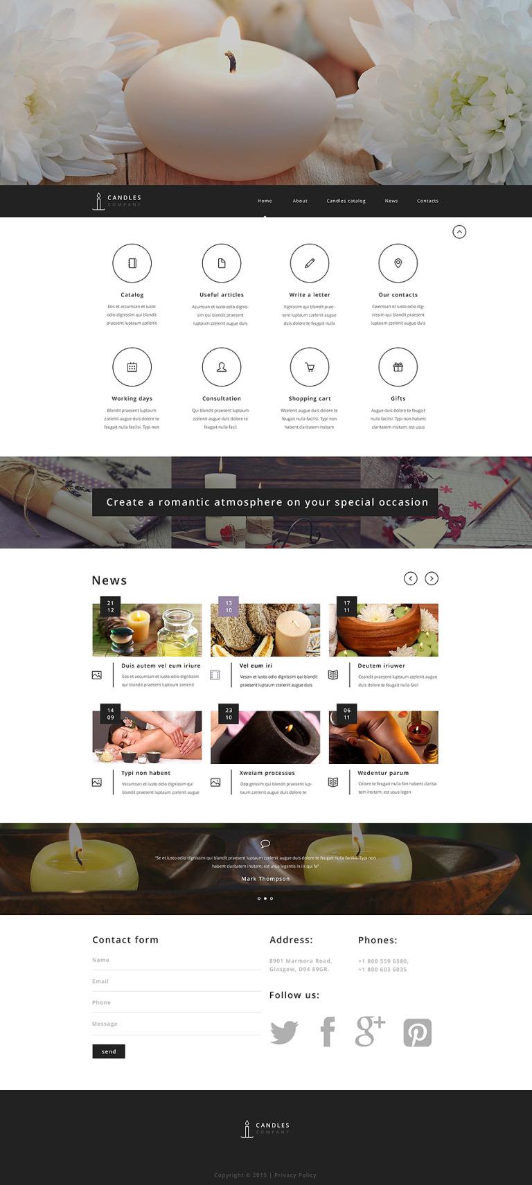 Candle Company Website Template New Screenshots BIG