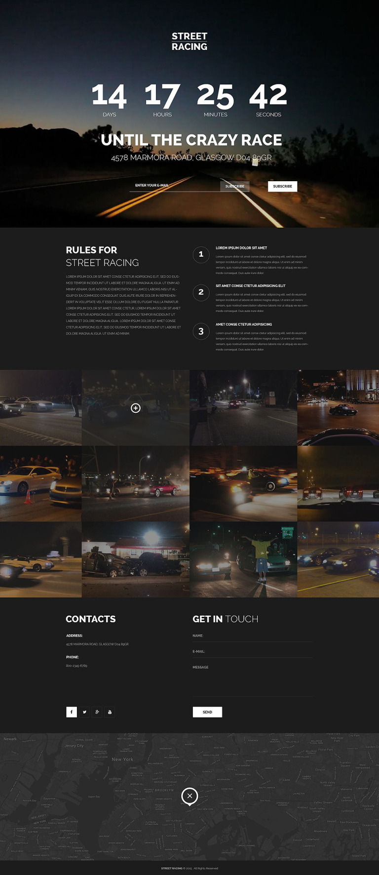Car Racing Responsive Landing Page Template New Screenshots BIG