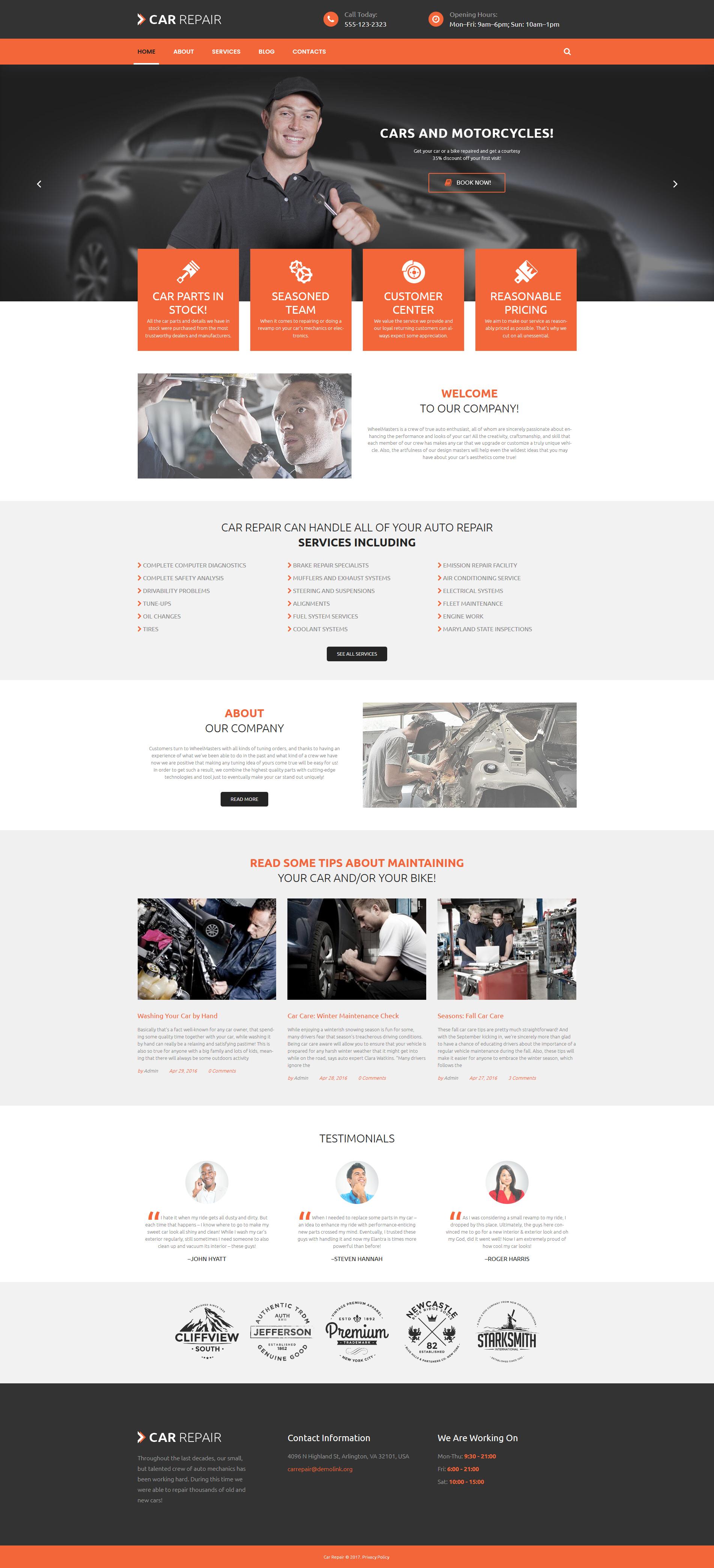 """Cars and Bikes"" - адаптивний WordPress шаблон №53985 - скріншот"