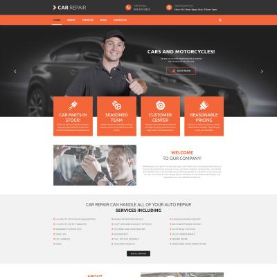 Responsywny motyw WordPress #53985 na temat: naprawa samochodów