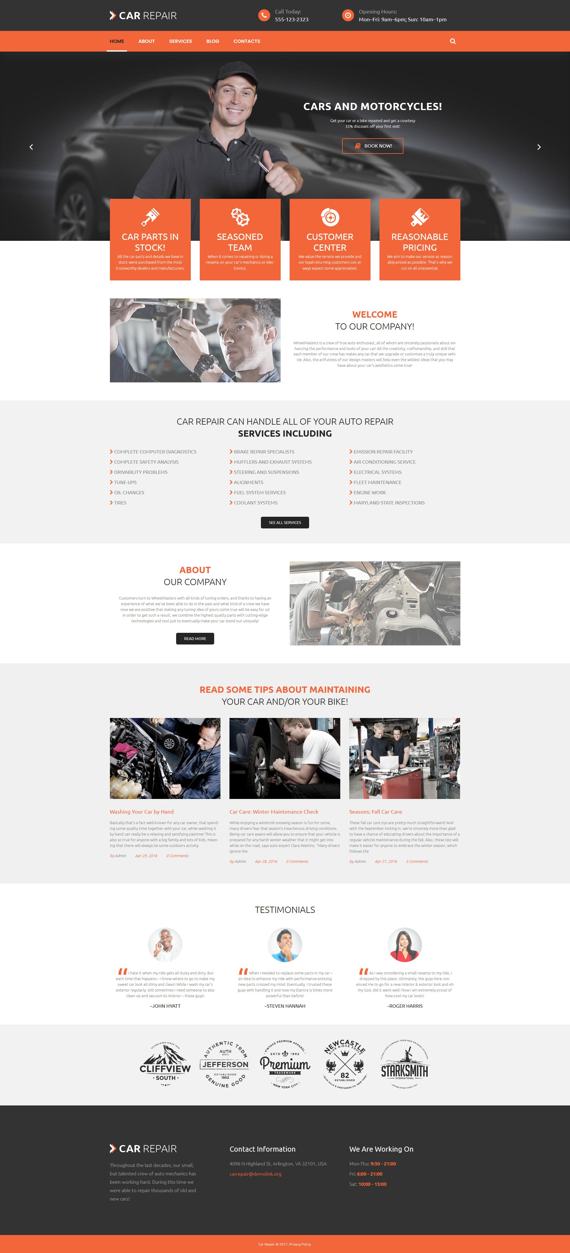 Cars and Bikes WordPress Theme
