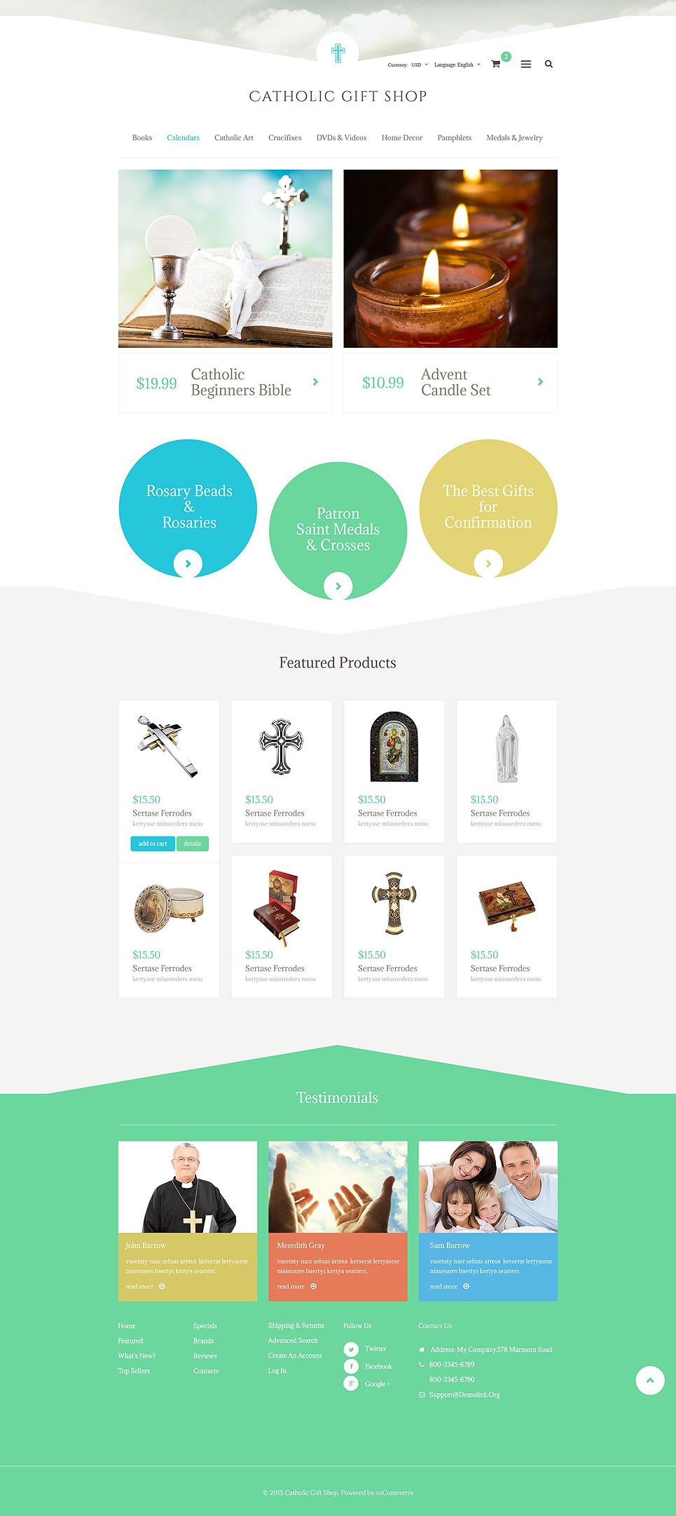 Catholic Gift Shop OsCommerce Template New Screenshots BIG