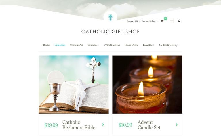 Catholic Gift Shop OsCommerce Template