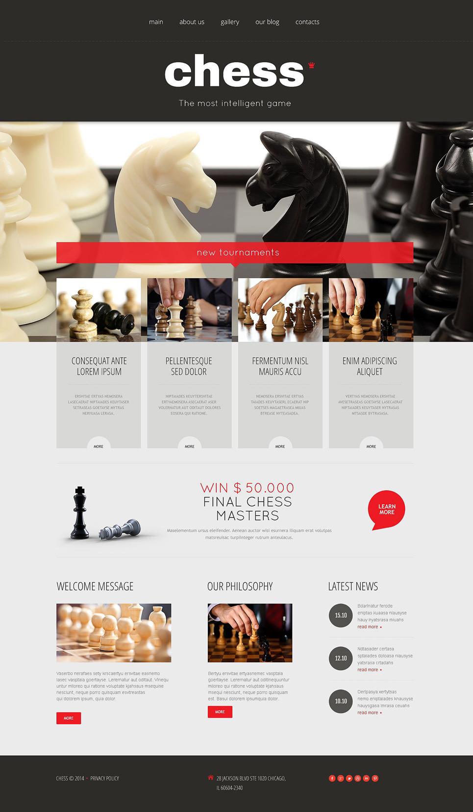 Chess Responsive Wordpress Theme 53991