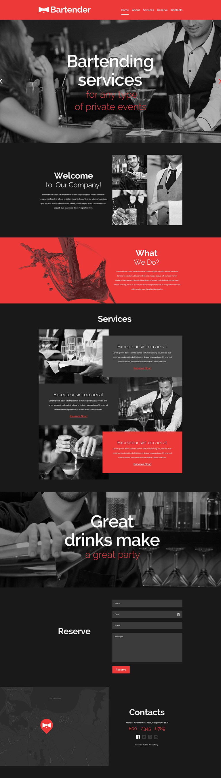 Cocktail Bar Responsive Website Template New Screenshots BIG