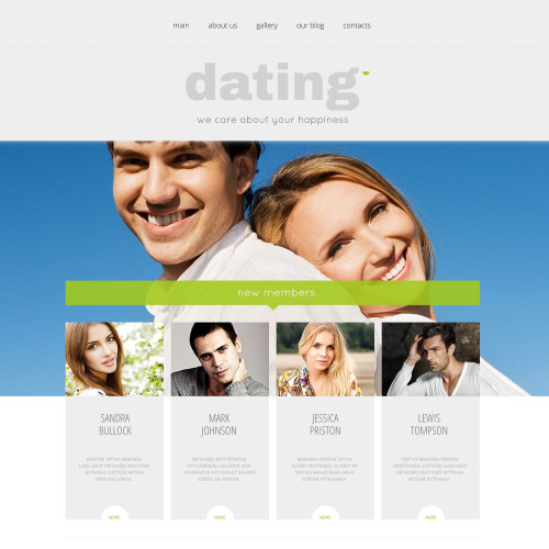 Dating - WordPress Template based on Bootstrap