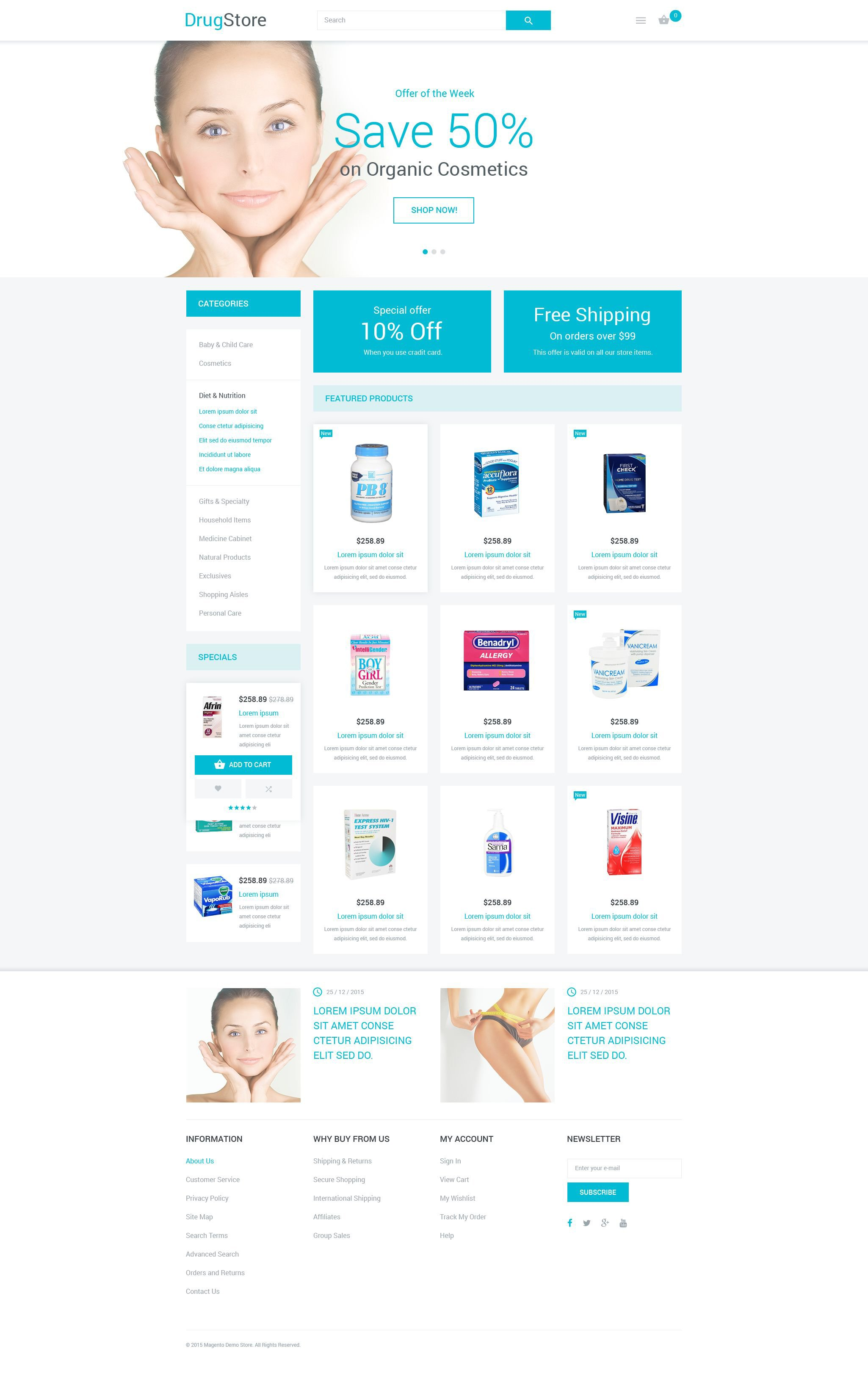 Drugstore Magento Theme - screenshot