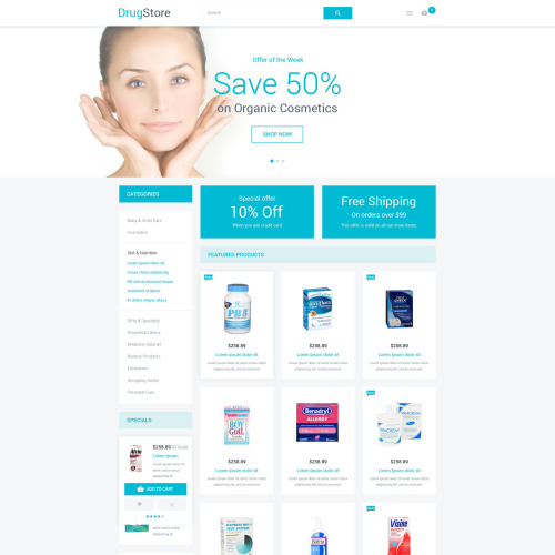 Drugstore - Magento Template based on Bootstrap