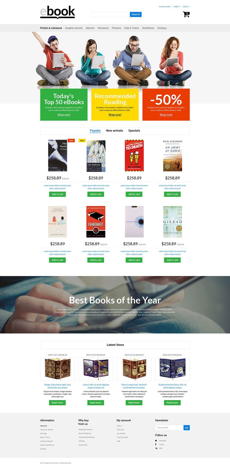 eBook PrestaShop Theme New Screenshots BIG