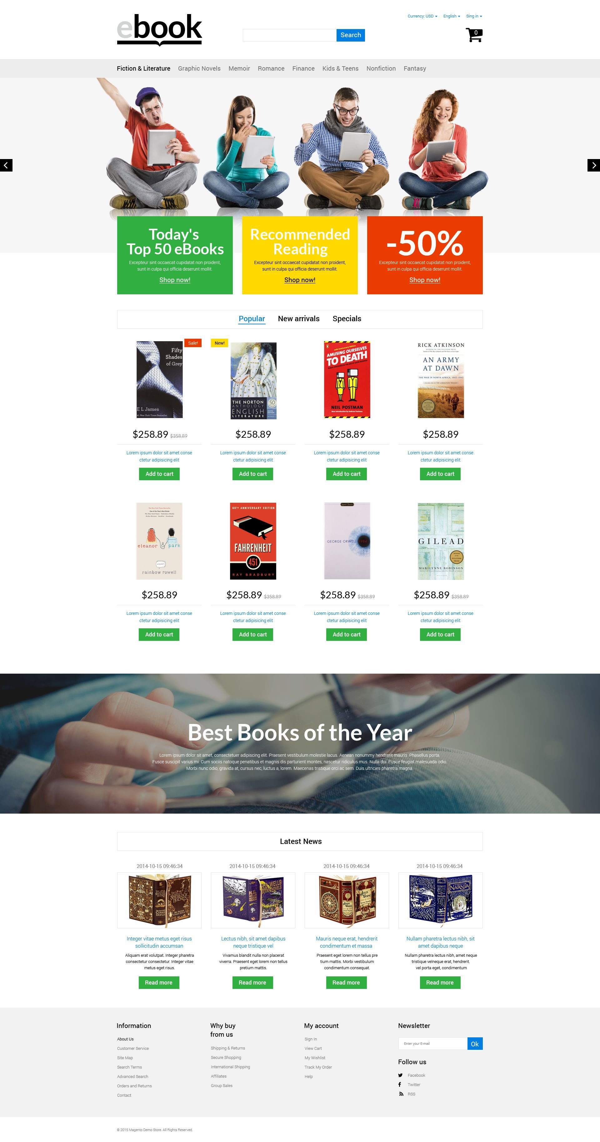 eBook PrestaShop Theme - screenshot