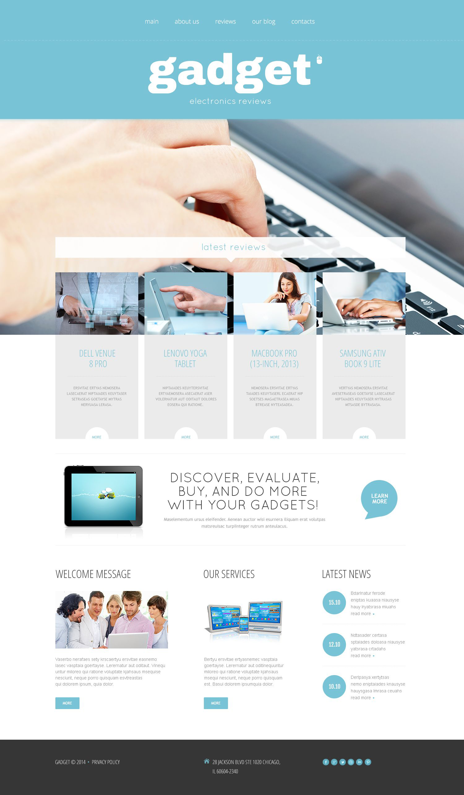 Electronics Store Responsive WordPress Theme #53993