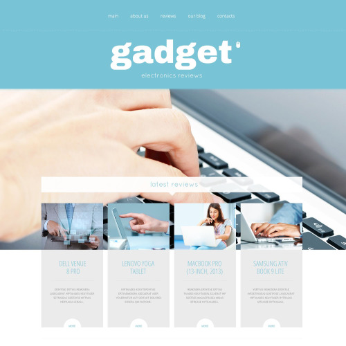Gadget - WordPress Template based on Bootstrap