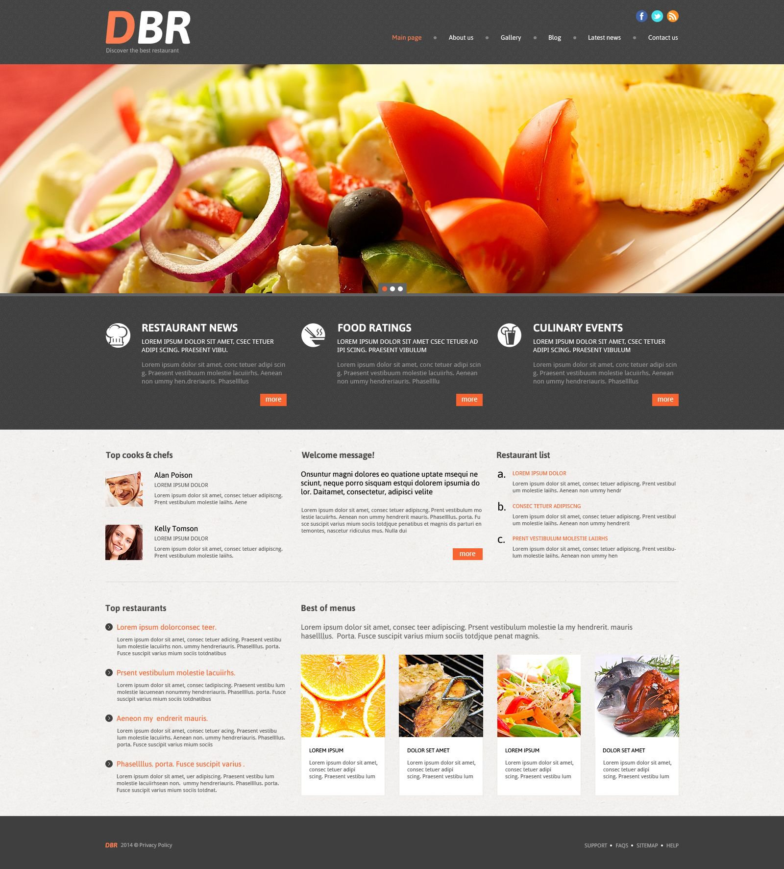 European Restaurant Responsive WordPress Theme