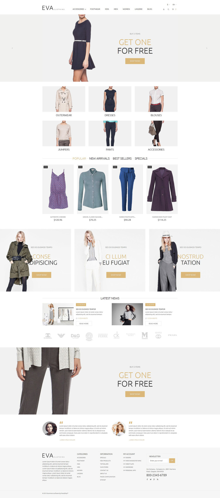 EVA Clothing PrestaShop Theme New Screenshots BIG