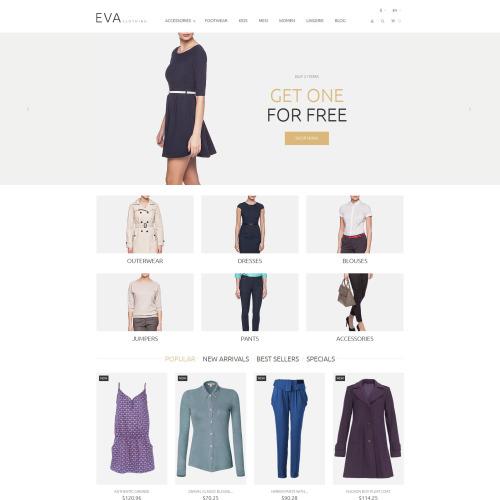 EVA Clothing - PrestaShop Template based on Bootstrap