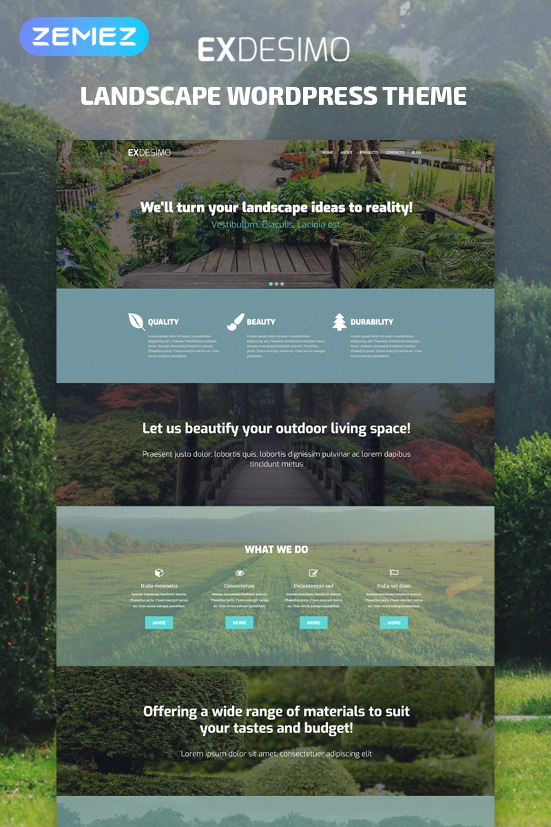 Exdesimo - Landscape Multipurpose Modern Elementor WordPress Theme - screenshot