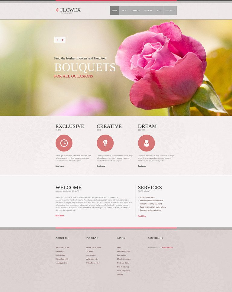 Flowers Responsive Joomla Template New Screenshots BIG
