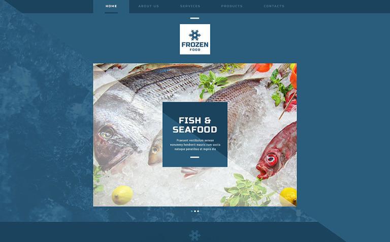 Frozen Seafood Website Template