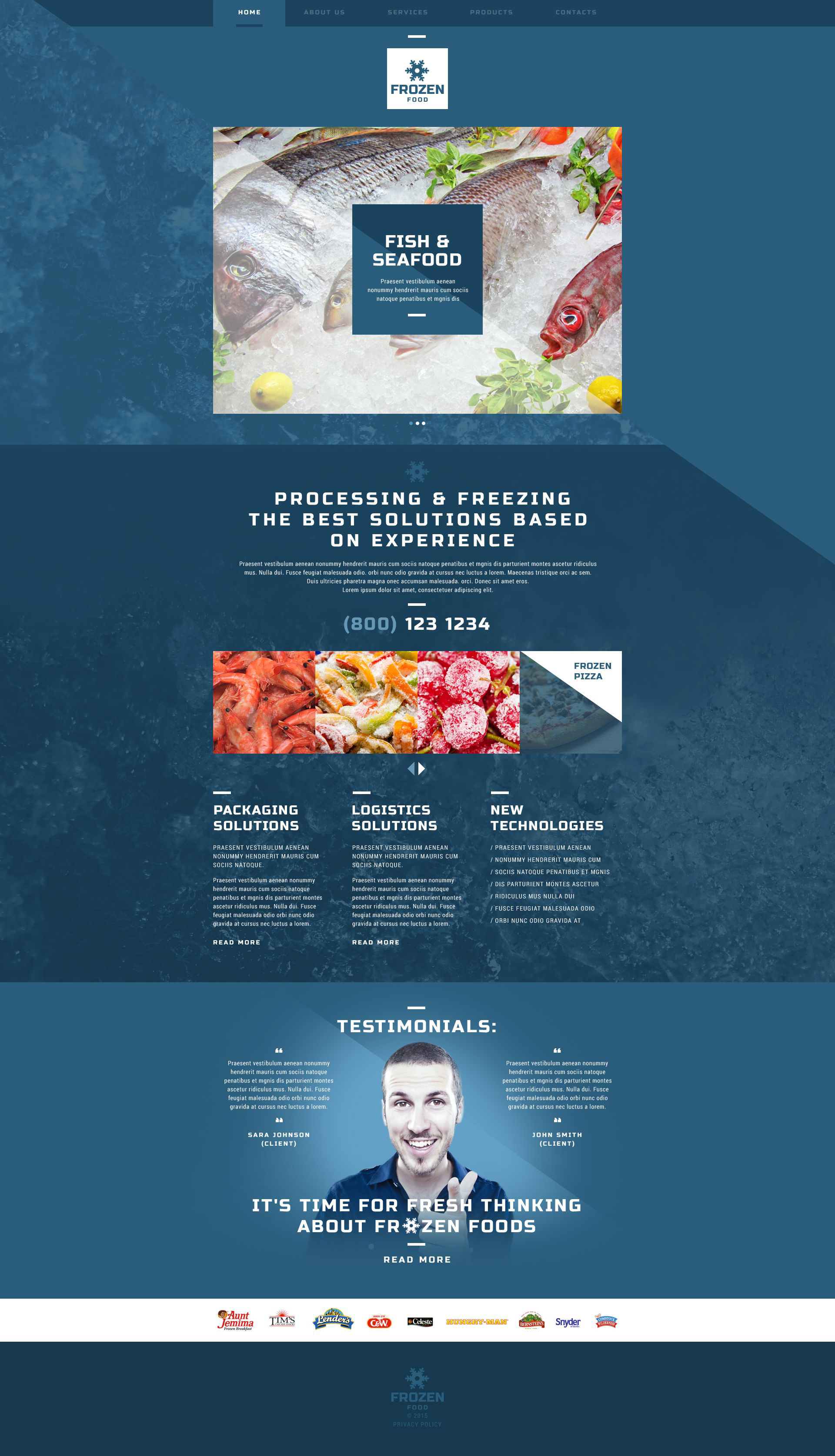 Frozen Seafood Website Template
