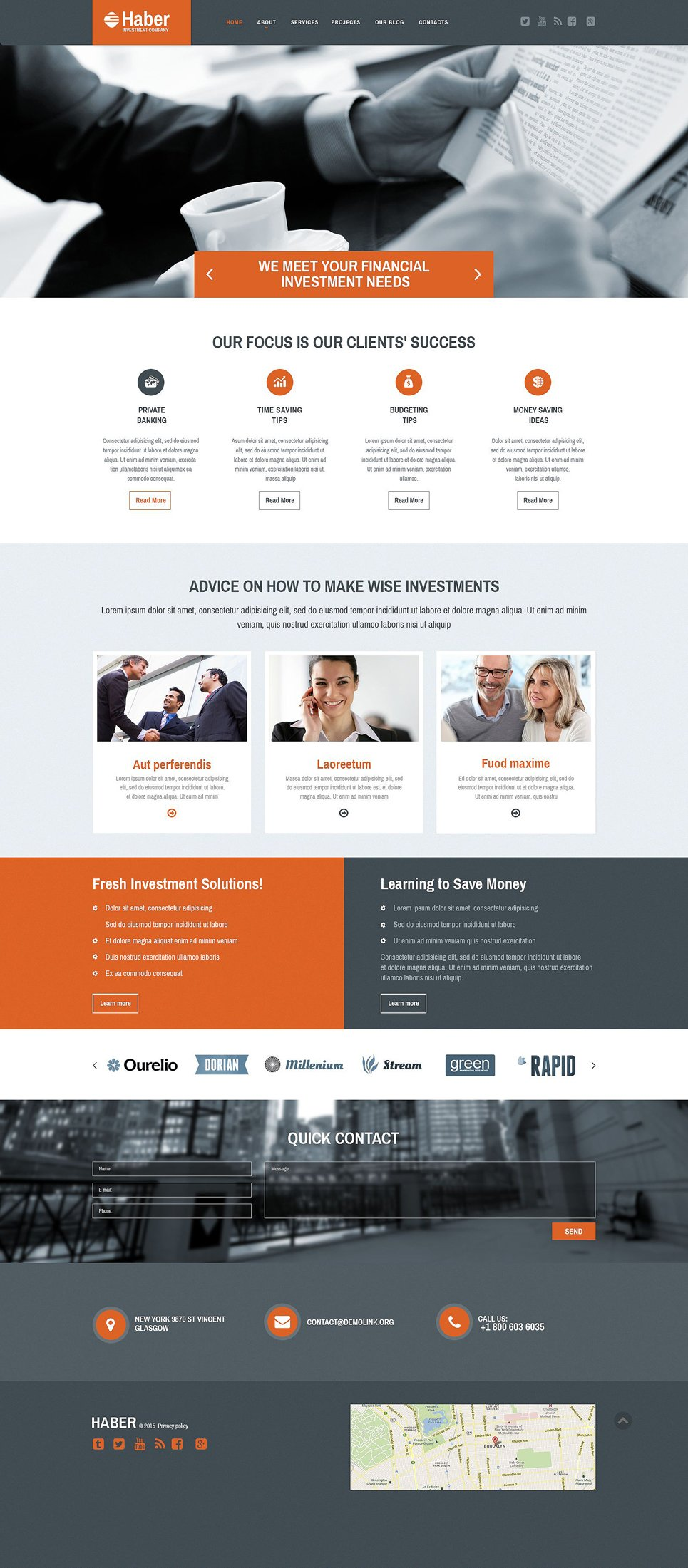 Investment Company Web Template
