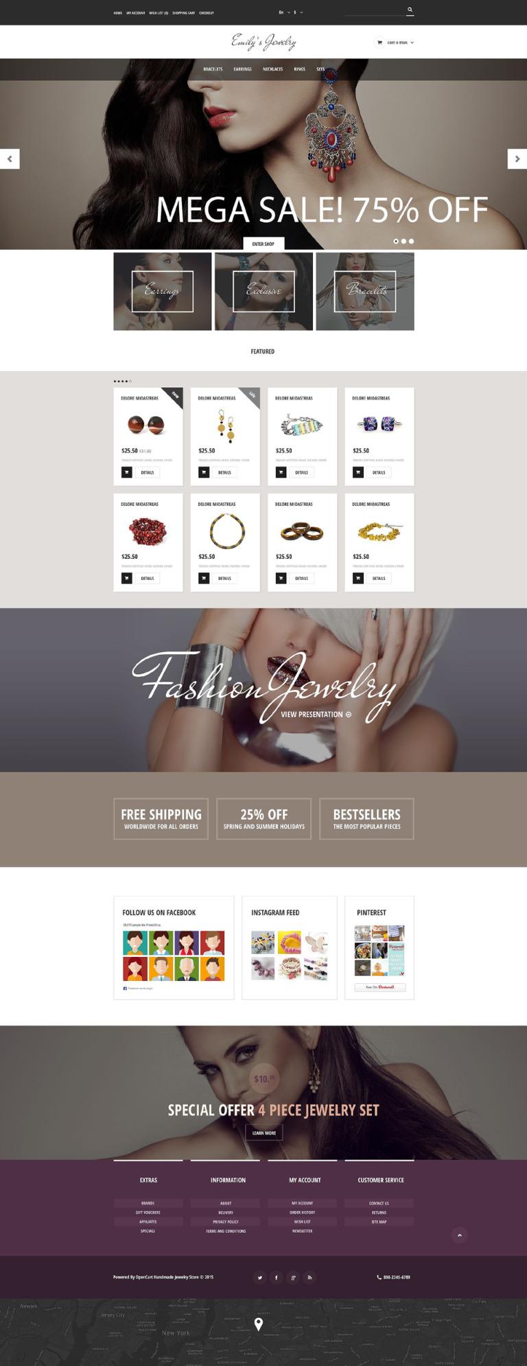 Handmade Jewelry OpenCart Template New Screenshots BIG