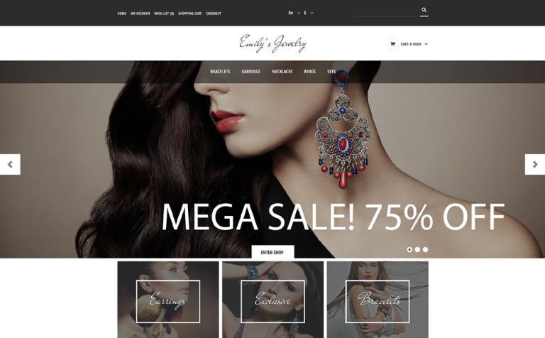 Handmade Jewelry OpenCart Template