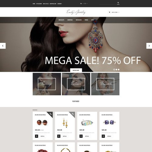 Emily's Jewelry - OpenCart Template based on Bootstrap