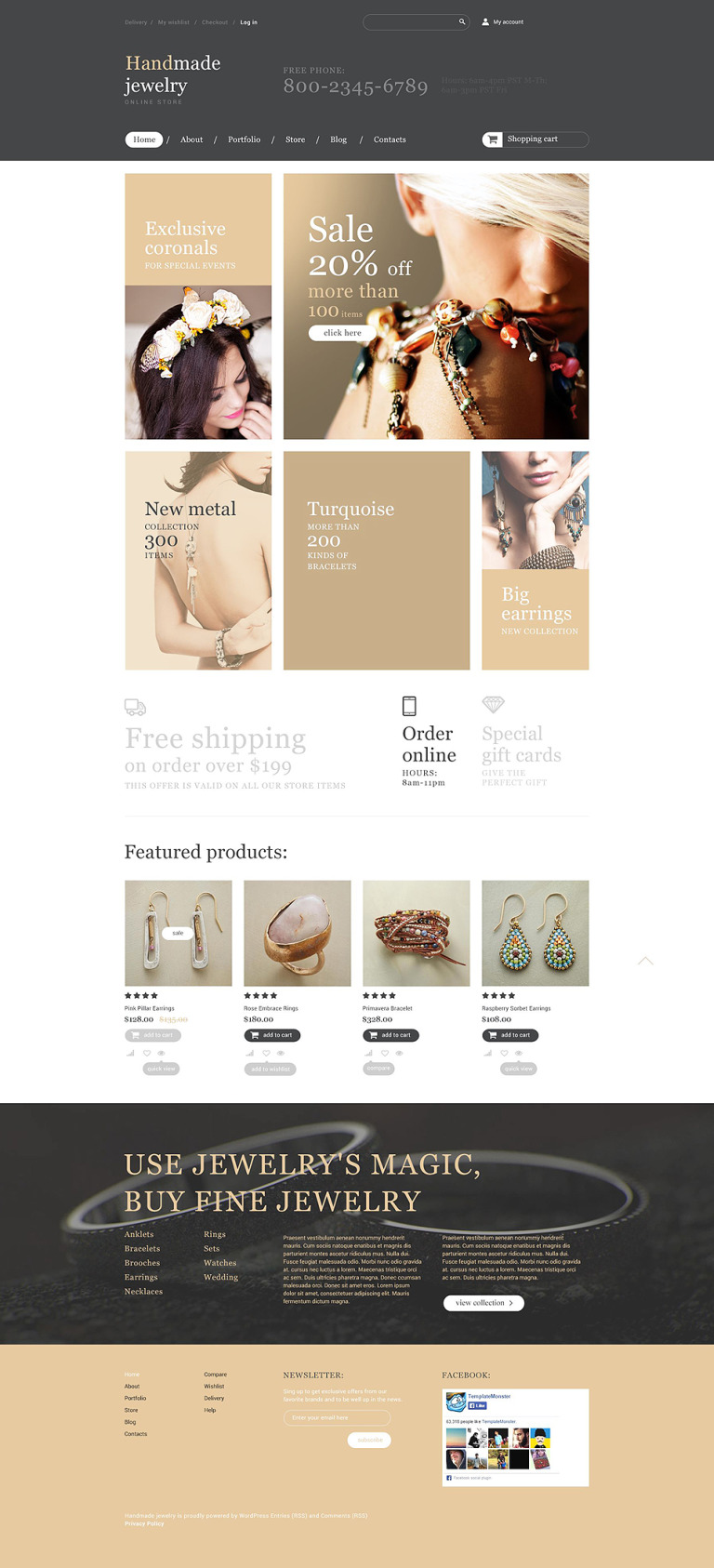 Handmade Jewelry Store WooCommerce Theme New Screenshots BIG