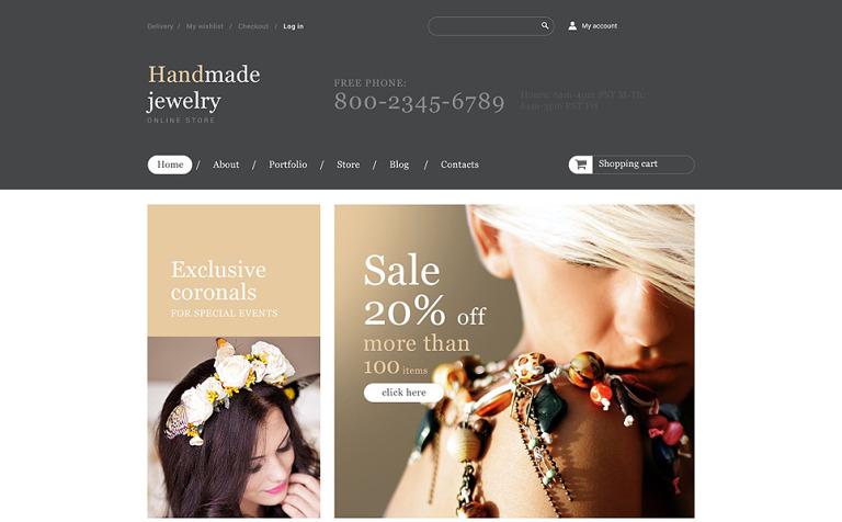Handmade Jewelry Store WooCommerce Theme