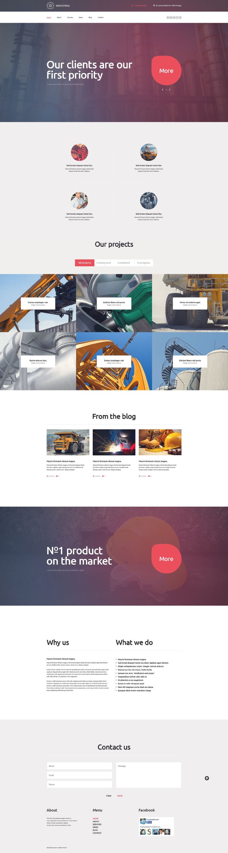 Industrial WordPress Theme New Screenshots BIG