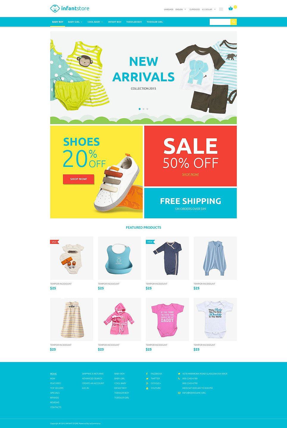 Infant Clothing Store OsCommerce Template New Screenshots BIG