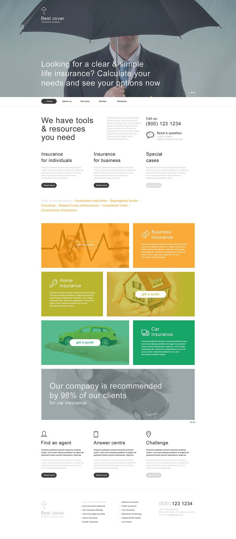 Insurance Muse Template New Screenshots BIG