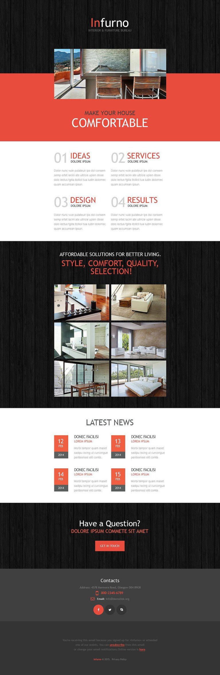 Interior & Furniture Responsive Newsletter Template New Screenshots BIG