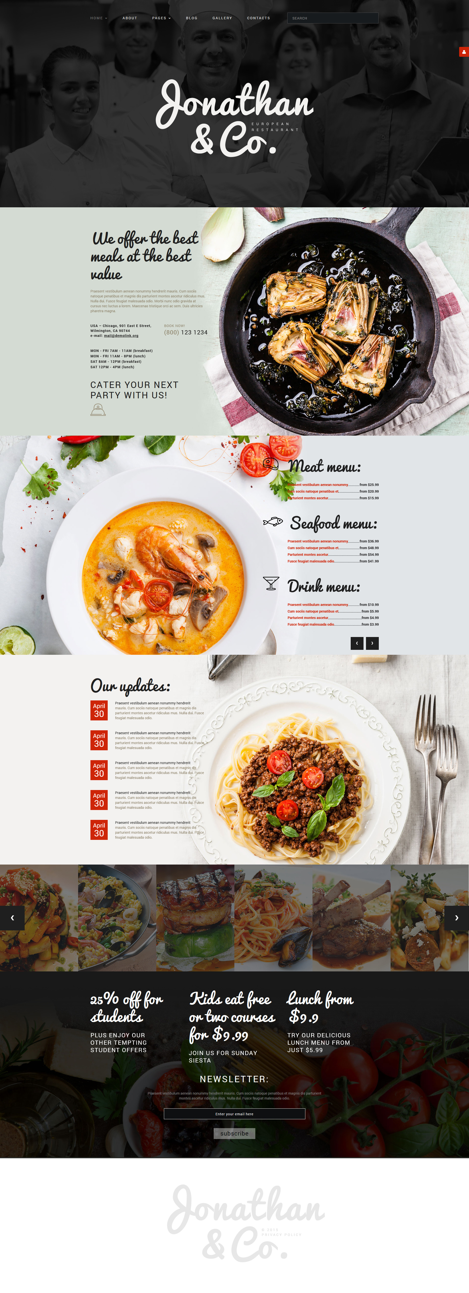 Cafe And Restaurant Joomla Template 53964