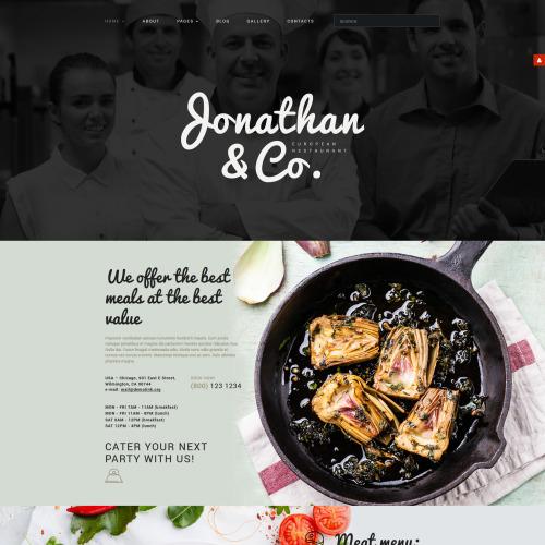Jonathan  Co - Joomla! Restaurant Template based on Bootstrap