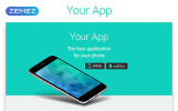 """Landing Page Template namens """"Your App - Software Minimal HTML"""""""