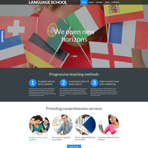 Language School - WordPress Template based on Bootstrap