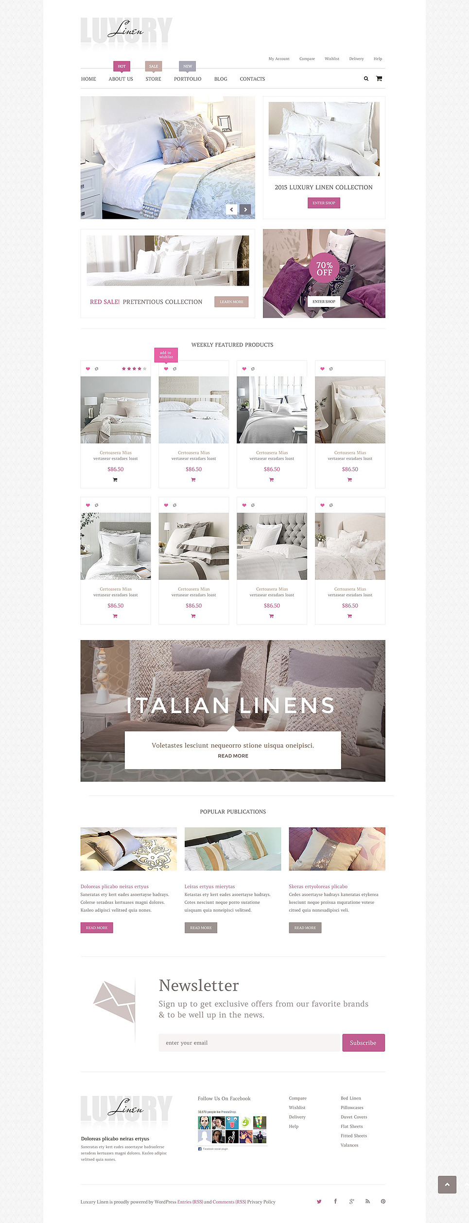 Luxury Linen WooCommerce Theme New Screenshots BIG