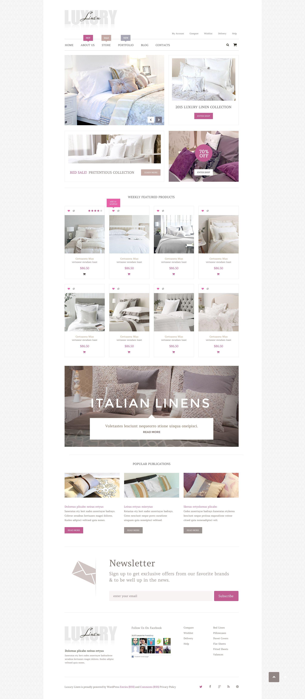 Luxury Linen WooCommerce Theme - screenshot
