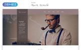 """Mark Oswald - Writer Responsive Minimal HTML5"" Responsive Website template"